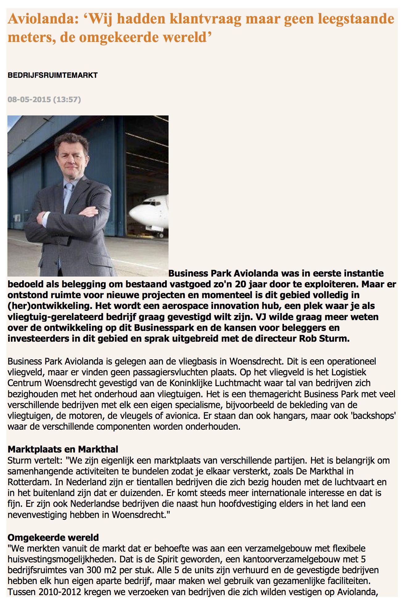 Aviolanda artikel 08-05-2015